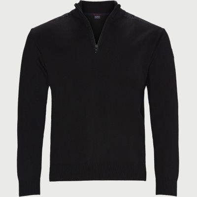Half-Zip Logo Sweater Regular | Half-Zip Logo Sweater | Sort