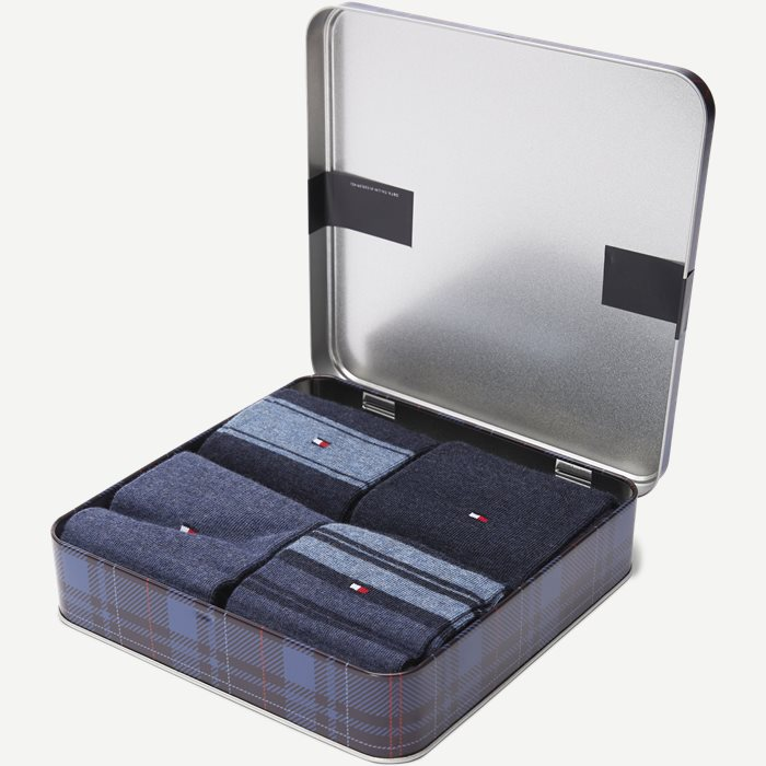 4-pack Socks Giftbox - Strømper - Blå