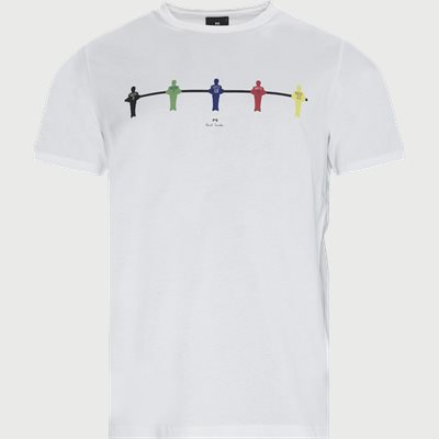 Regular   T-shirts   Hvid