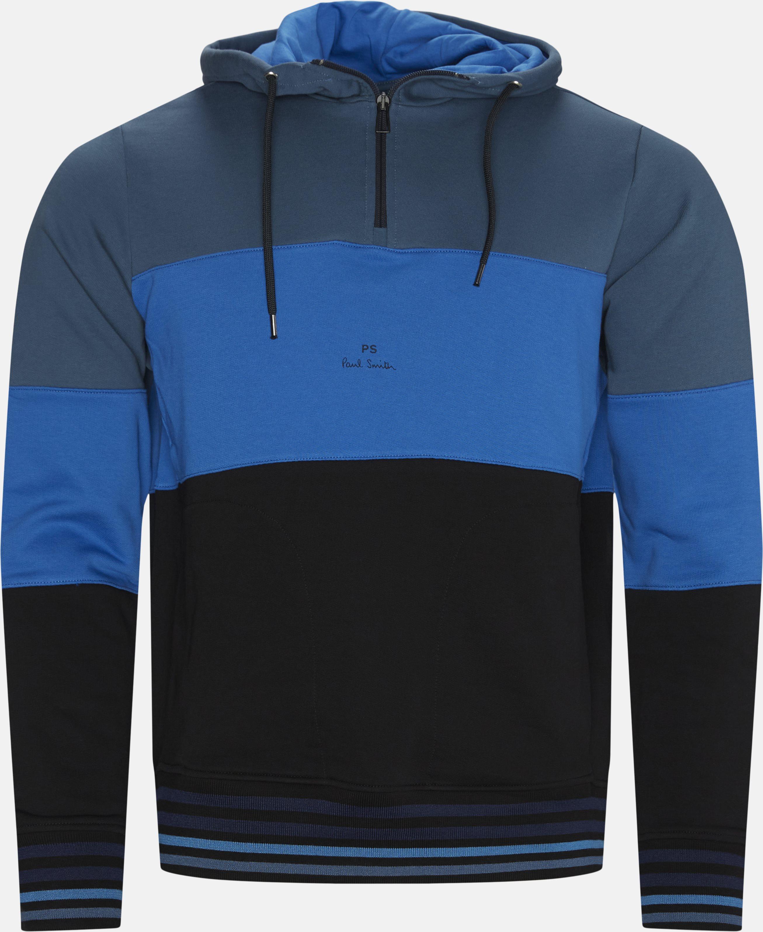 Half-zip Hoodie - Sweatshirts - Regular - Blå