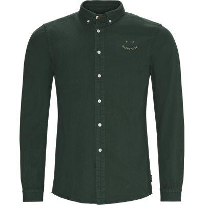 Denim Skjorte Tailored fit | Denim Skjorte | Grøn