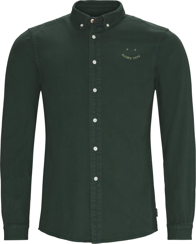 Denim Skjorte - Skjorter - Tailored fit - Grøn