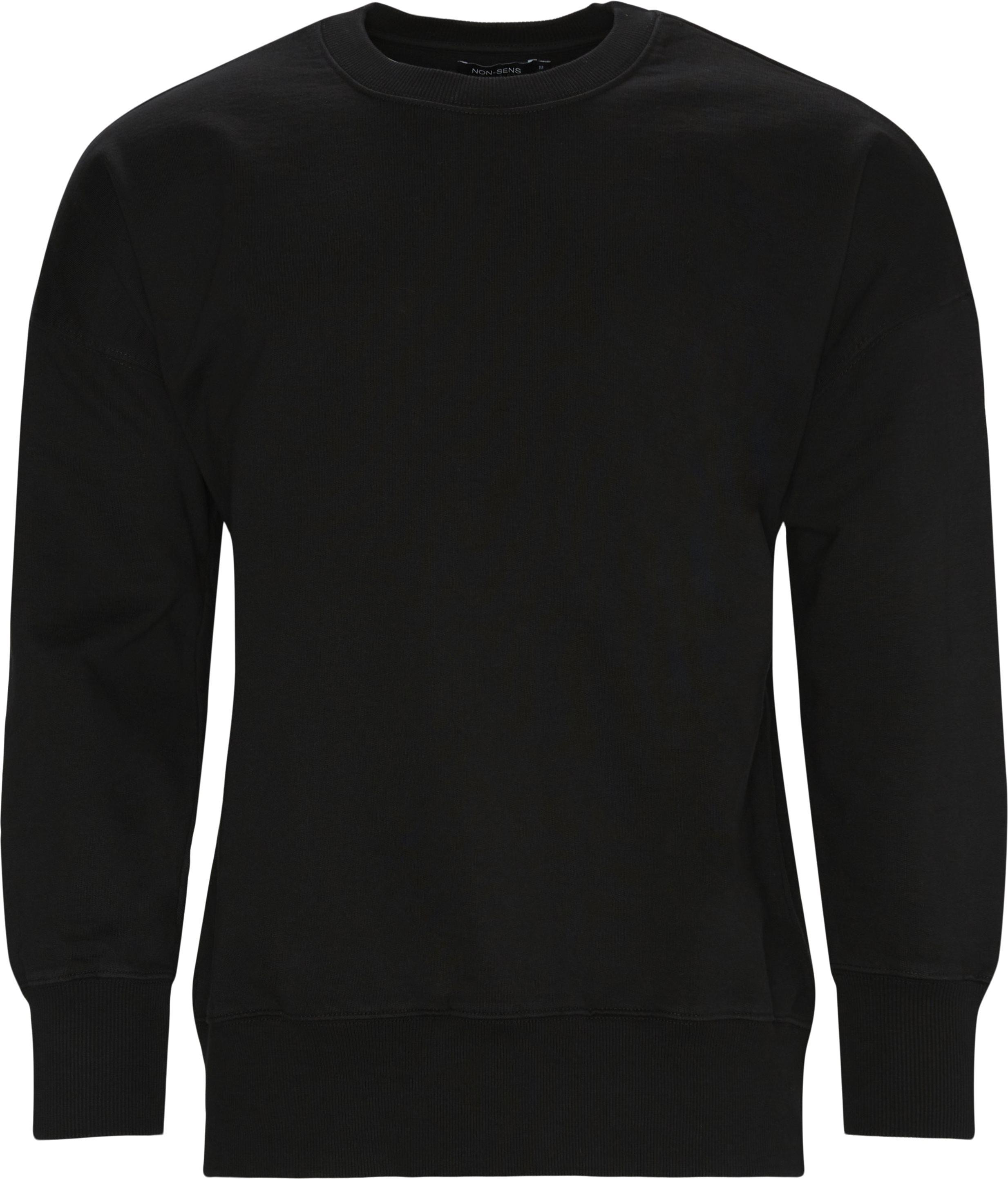 Caruso Crewneck Sweatshirt - Sweatshirts - Regular - Sort