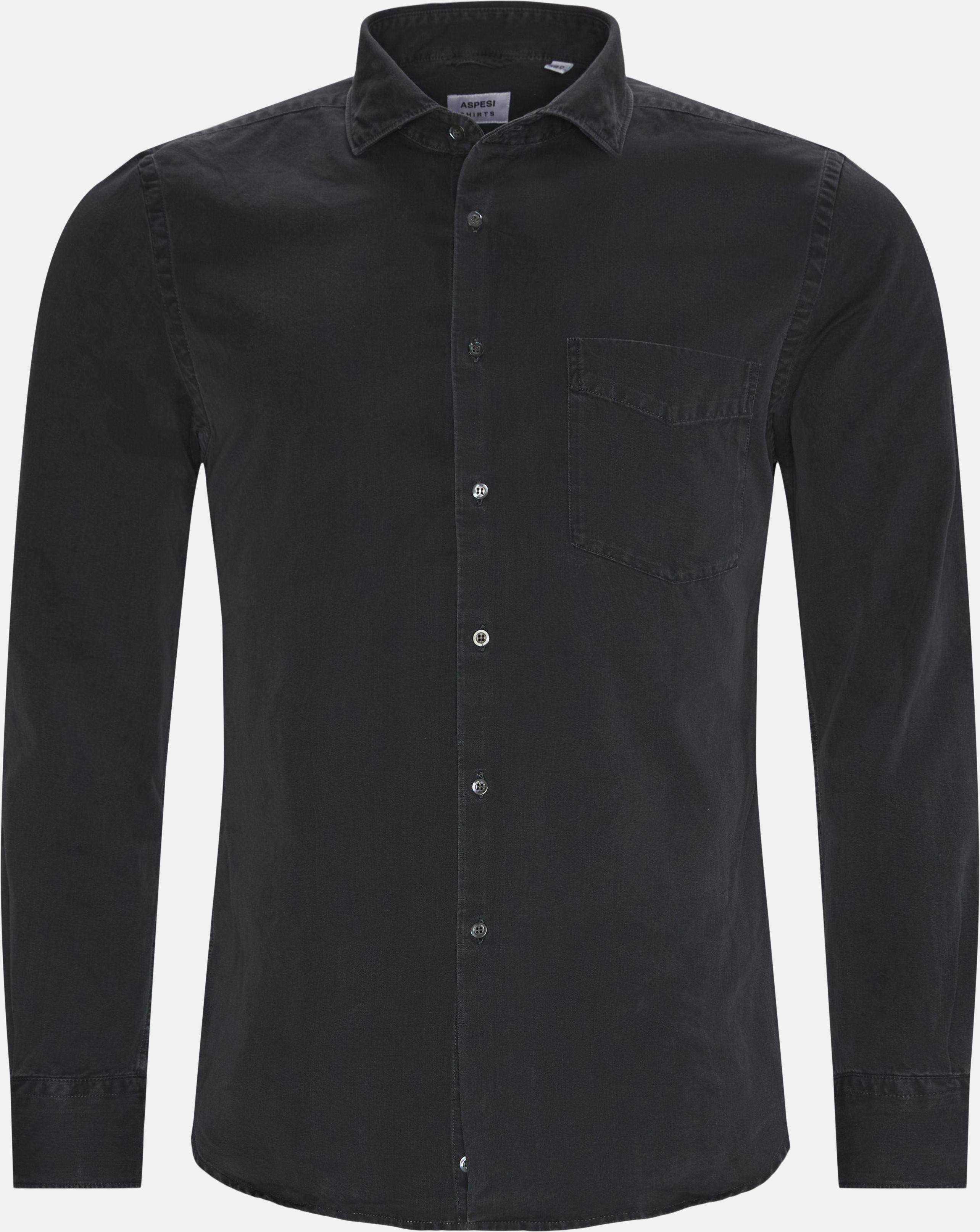 Denim skjorte - Skjorter - Regular - Grå