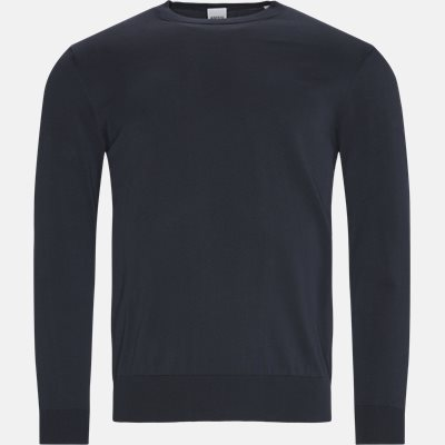 Crewneck strik Regular | Crewneck strik | Blå