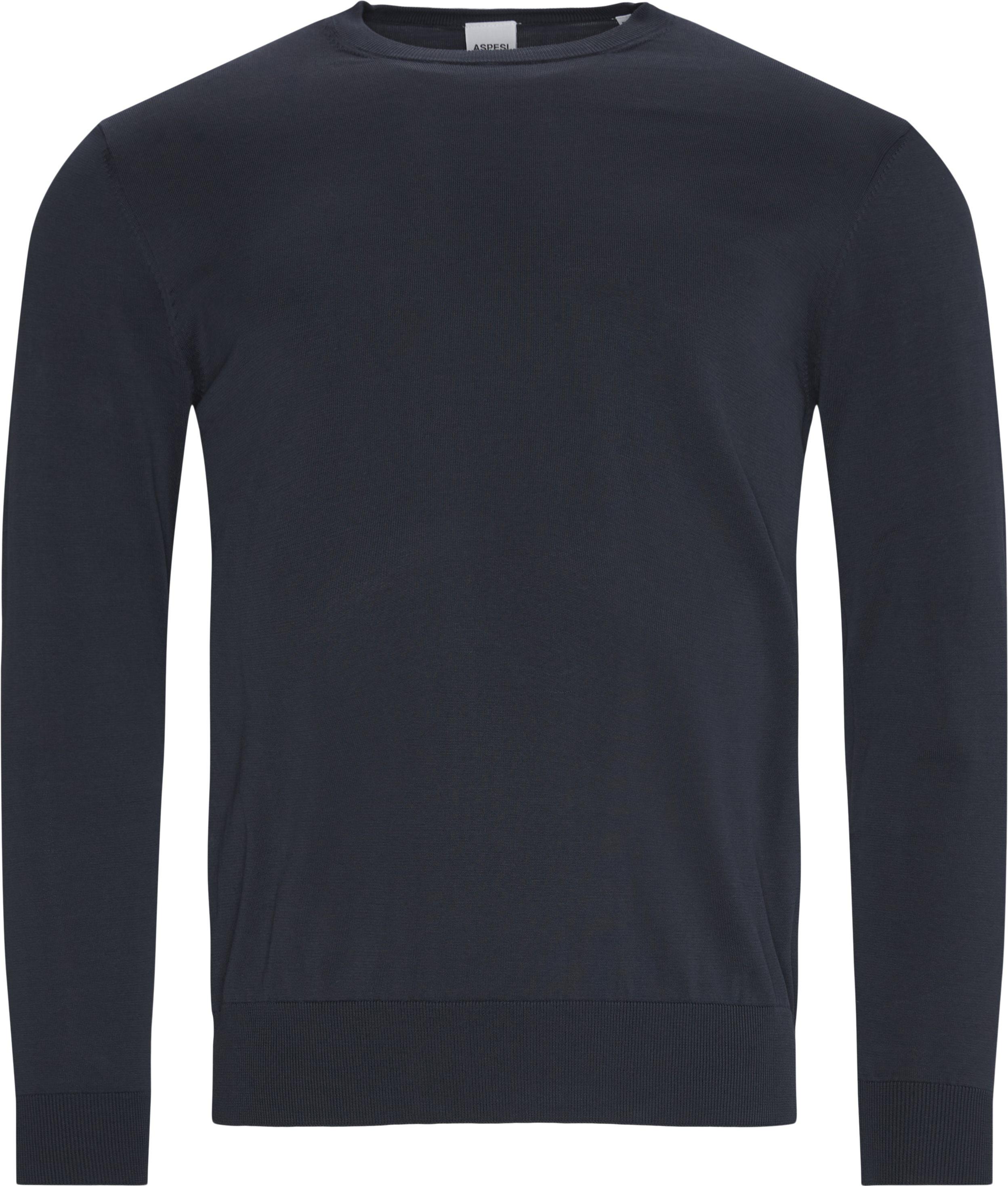 Crewneck strik - Strik - Regular fit - Blå