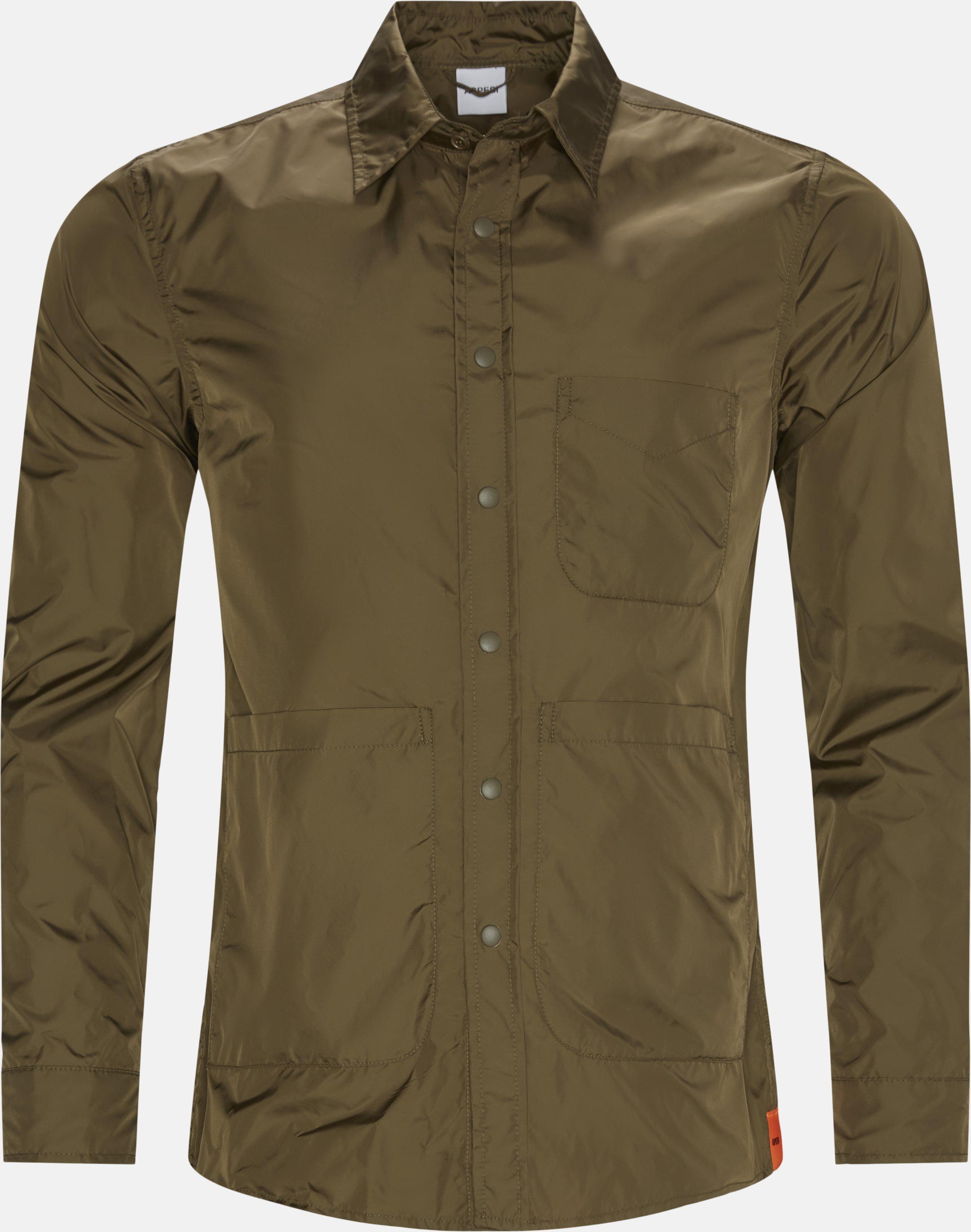 Nylon skjorte - Skjorter - Regular - Army