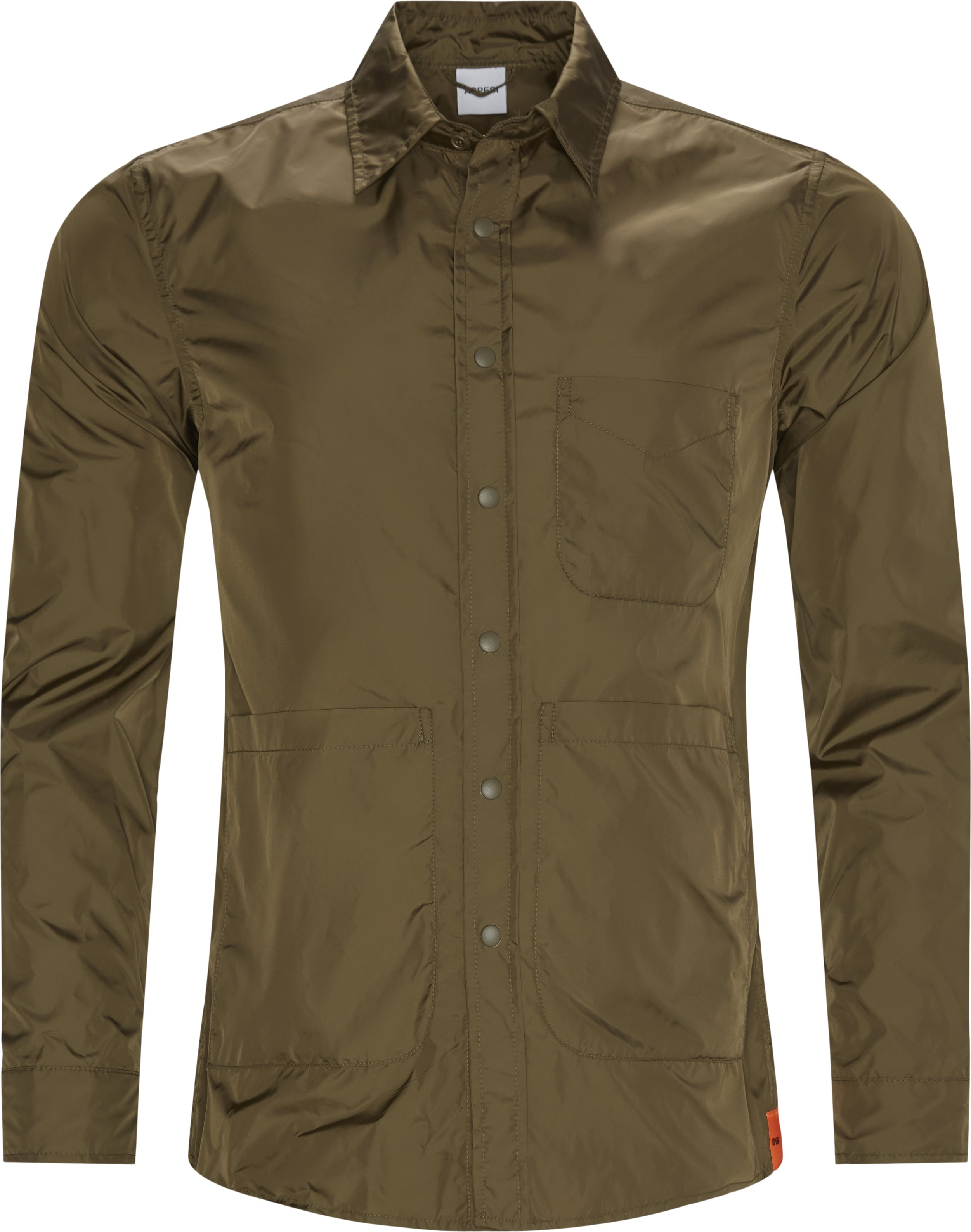 Nylon skjorte - Skjorter - Regular fit - Army