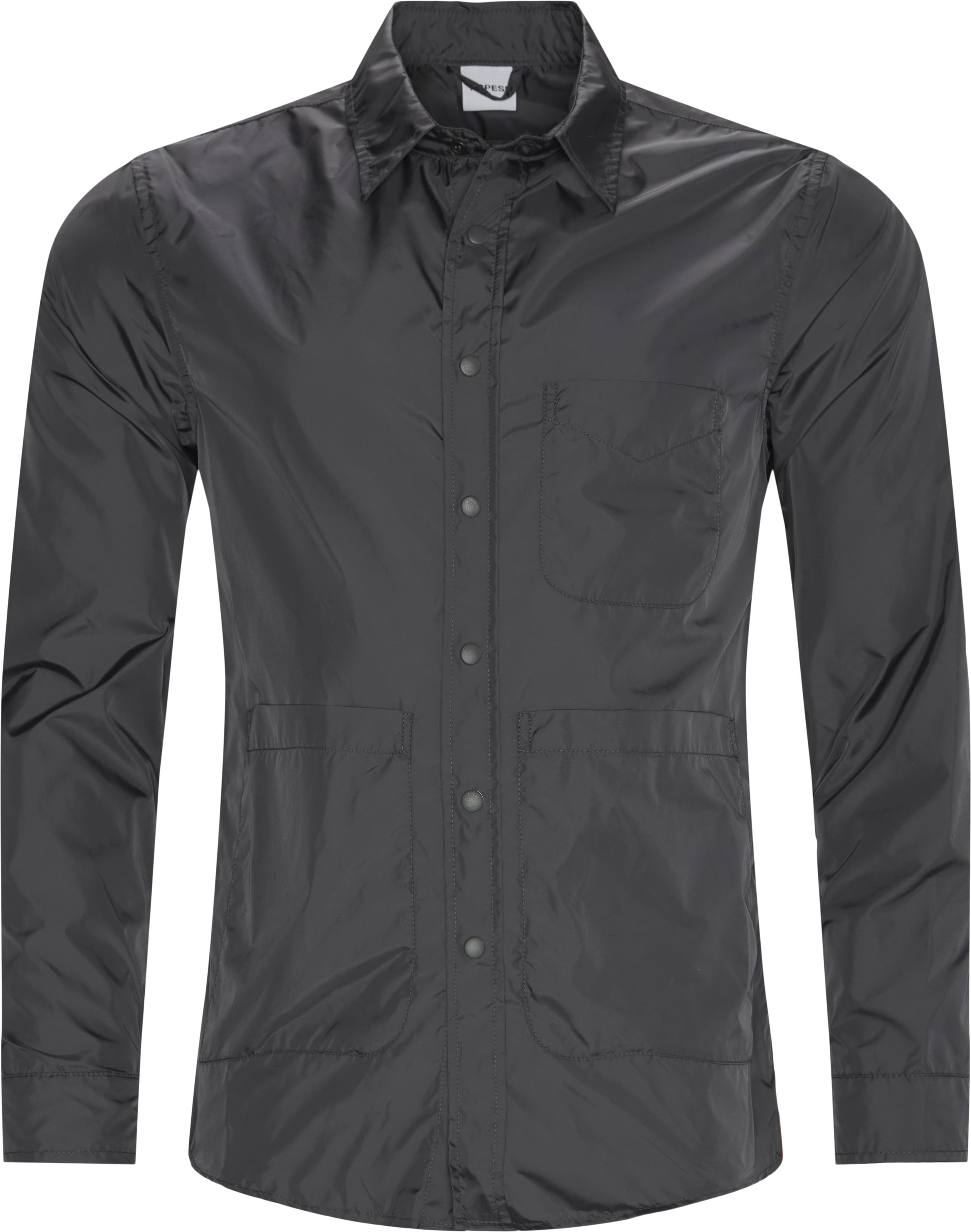 Nylon skjorte - Skjorter - Regular fit - Grå