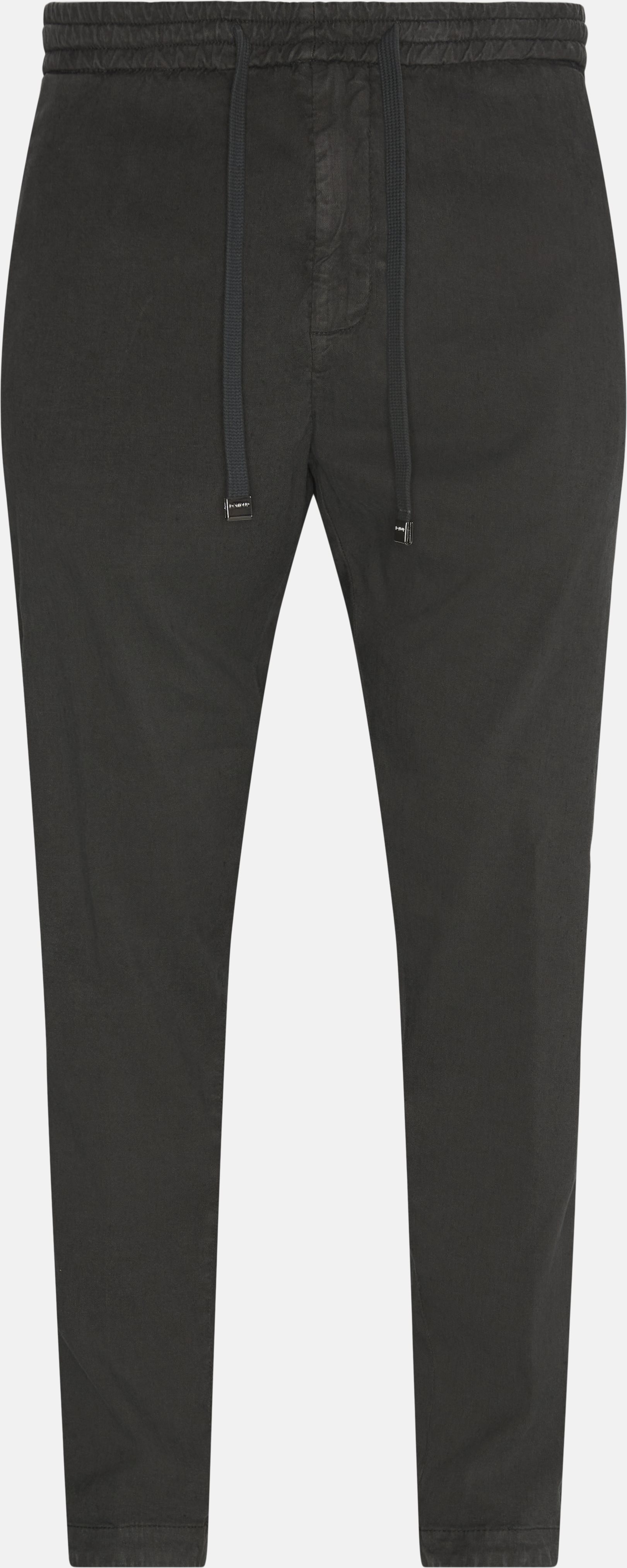 Trousers - Loose - Grey