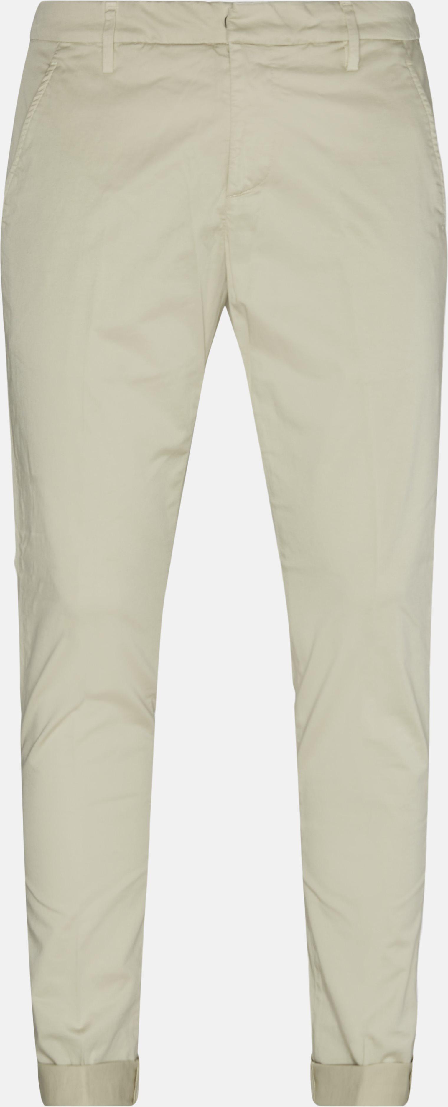 Trousers - Slim - Sand