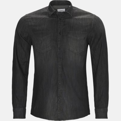 Denim skjorte Regular | Denim skjorte | Sort