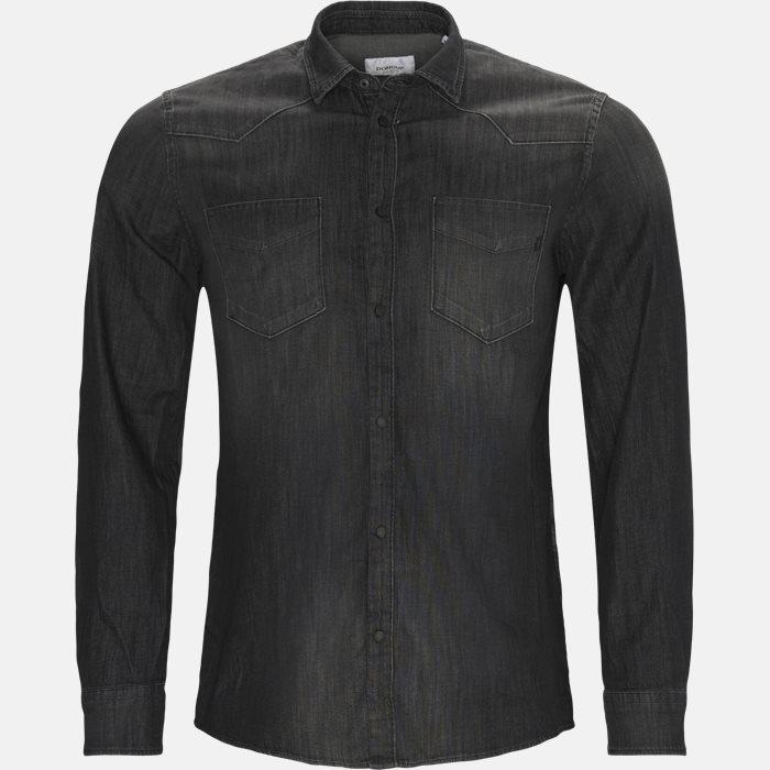 Denim skjorte - Skjorter - Regular - Sort