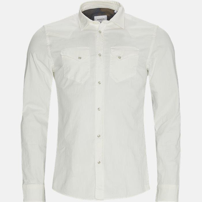 Denim skjorte - Skjorter - Regular - Hvid