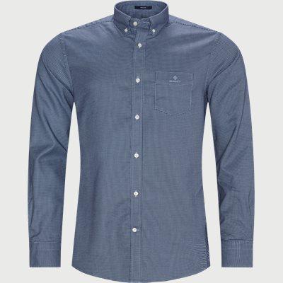 Melange Doby REG Shirt Regular | Melange Doby REG Shirt | Blå