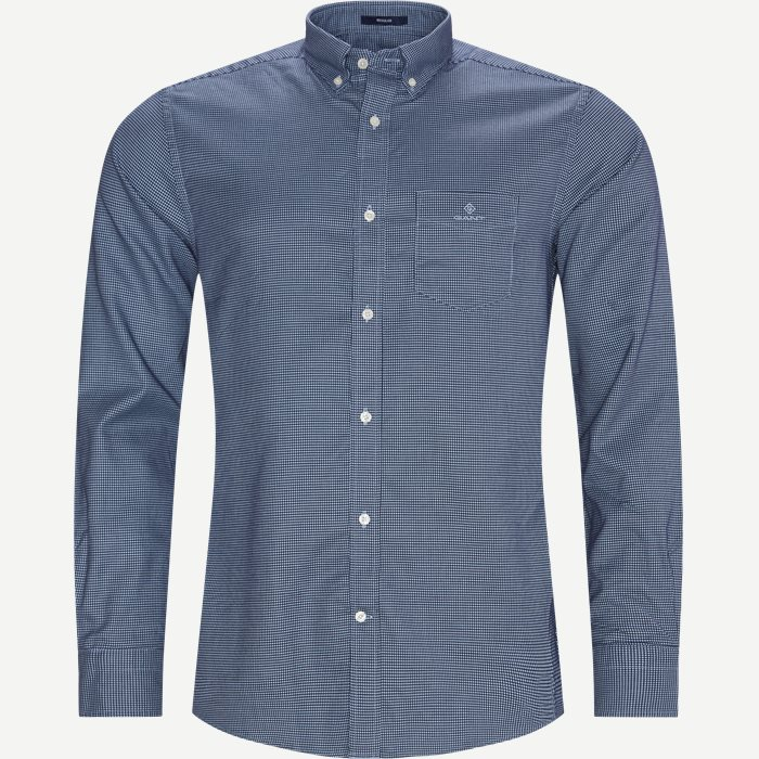 Melange Doby REG Shirt - Shirts - Regular - Blue
