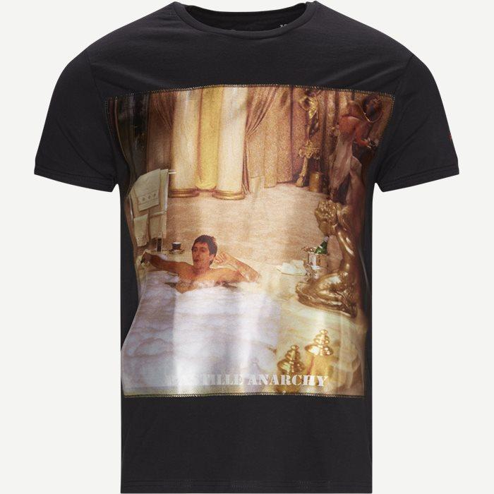 Bain T-shirt - T-shirts - Regular - Svart