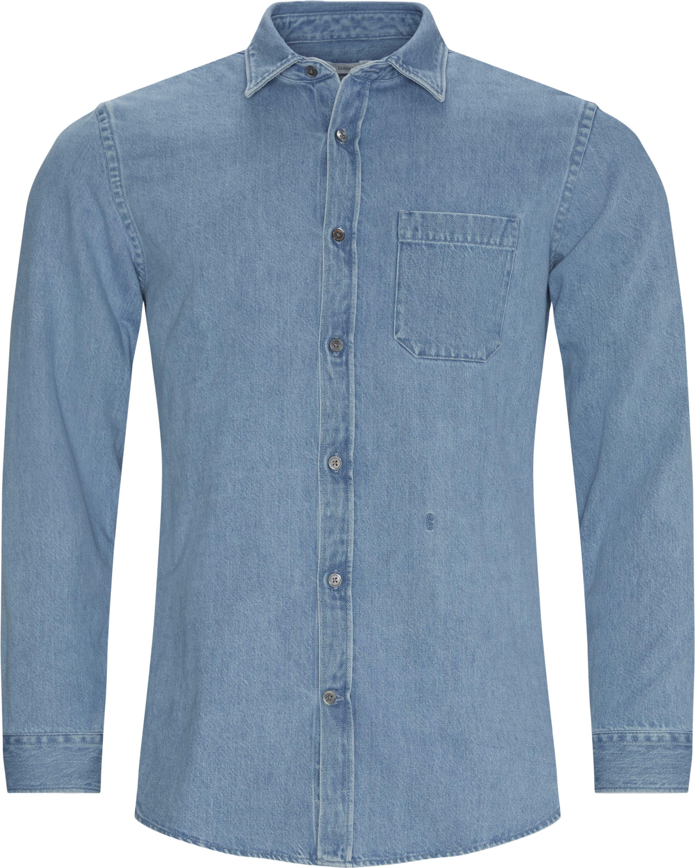 Denim skjorte - Skjorter - Regular fit - Blå