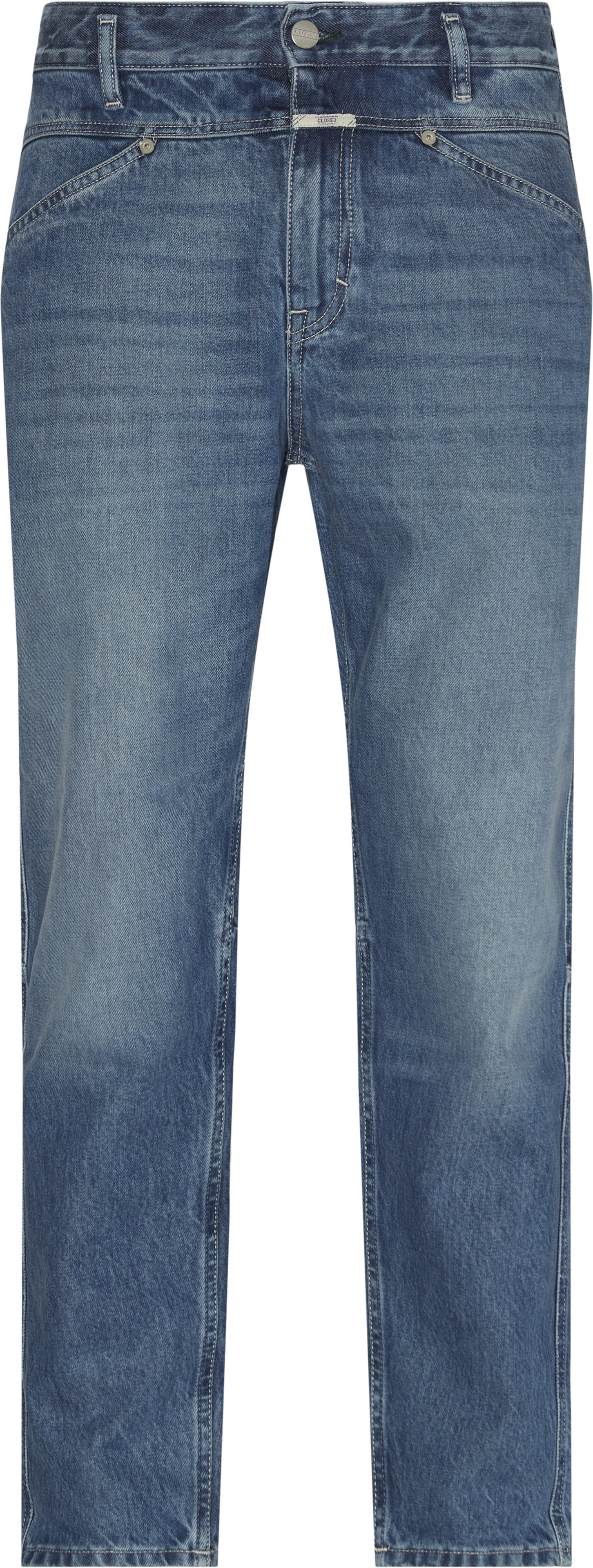 Cropped Jeans - Jeans - Loose fit - Blå