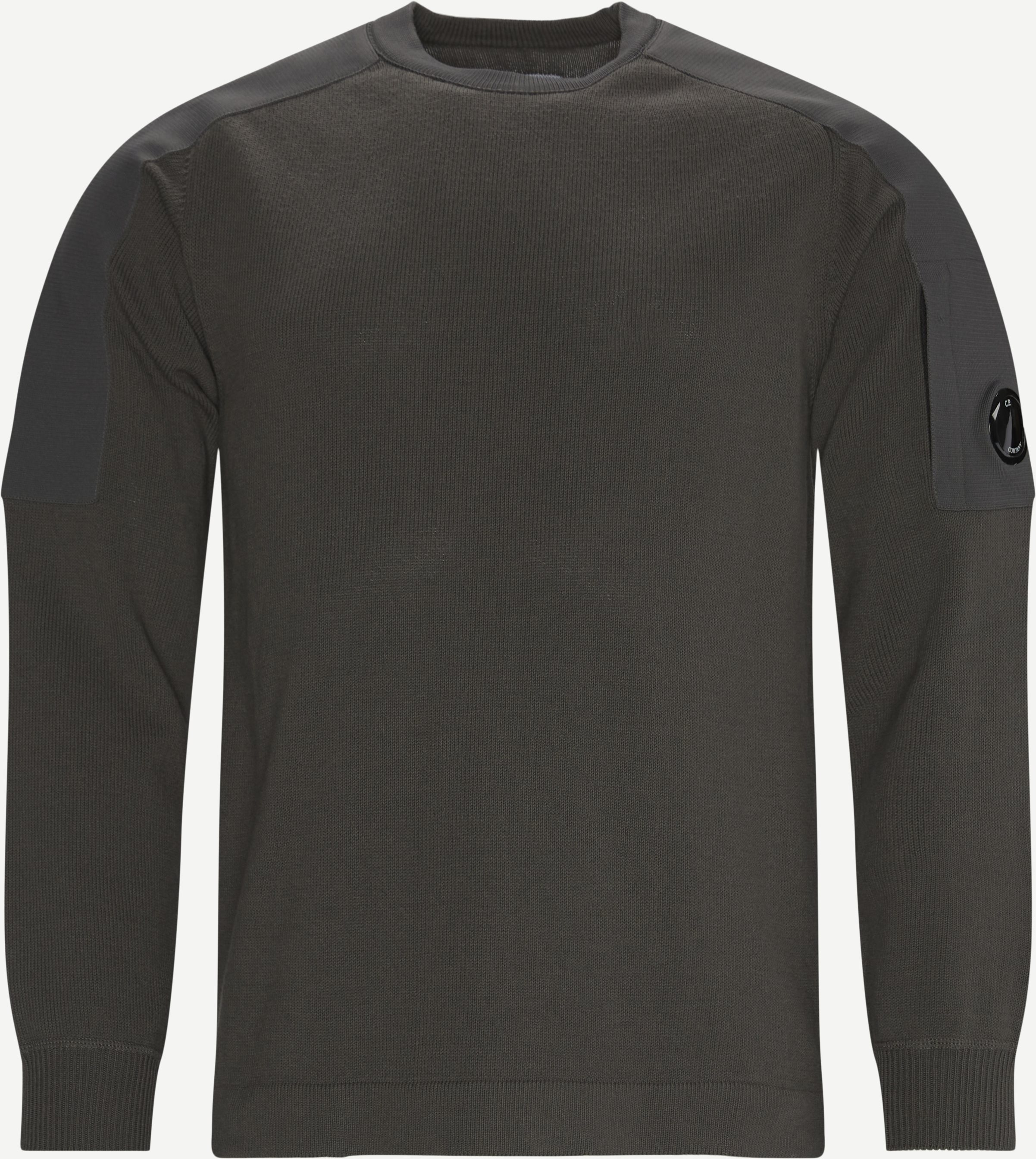 Cotton Mixed Sweater - Knitwear - Regular - Grey