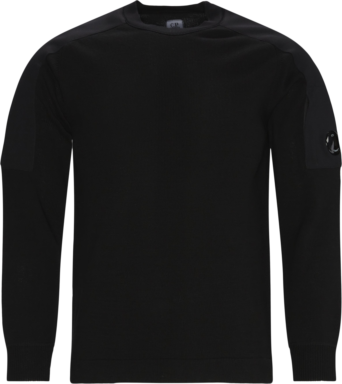 Cotton Mixed Sweater - Knitwear - Regular fit - Black