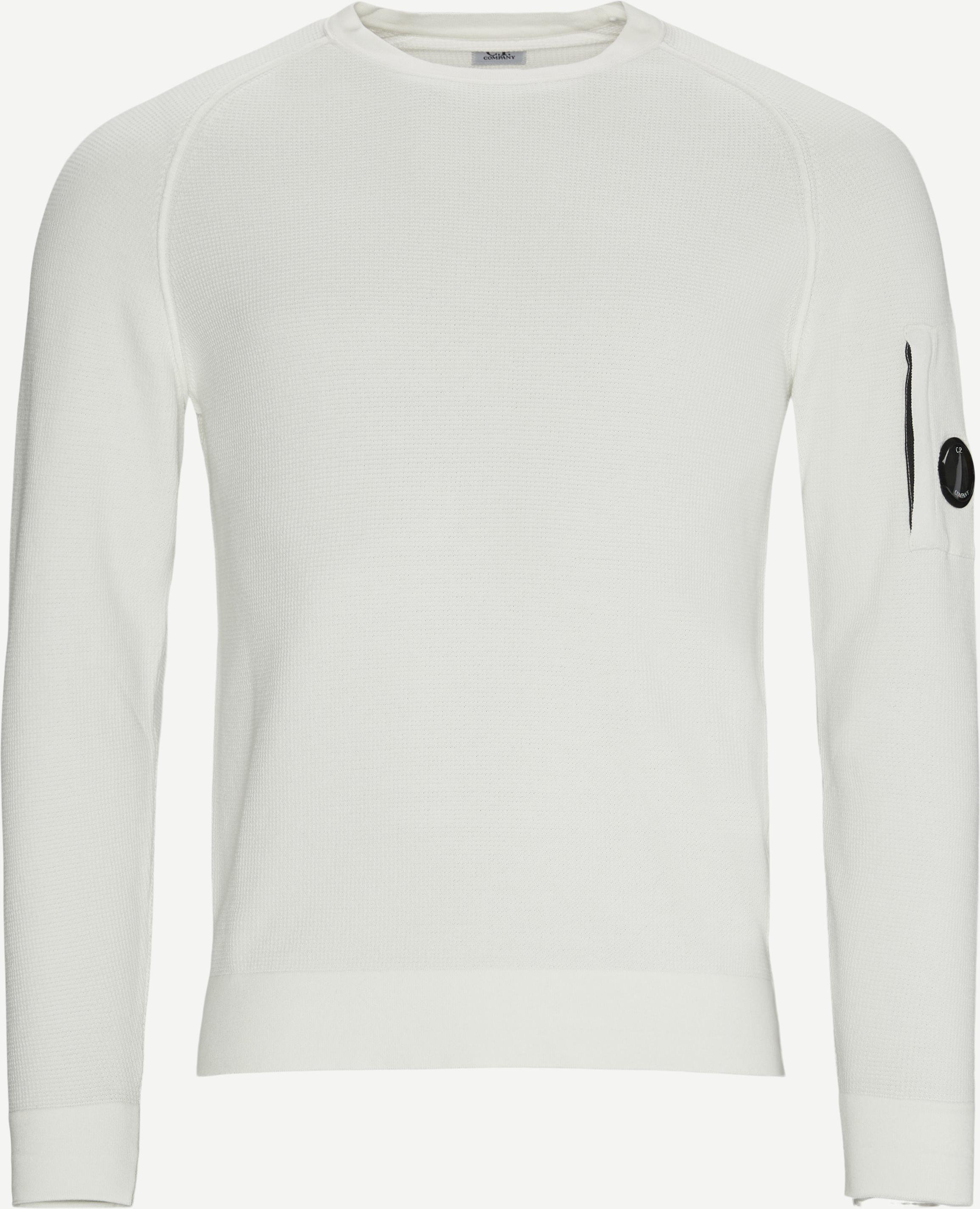 Waffle Knitted Lens Logo Crewneck - Knitwear - Regular - White