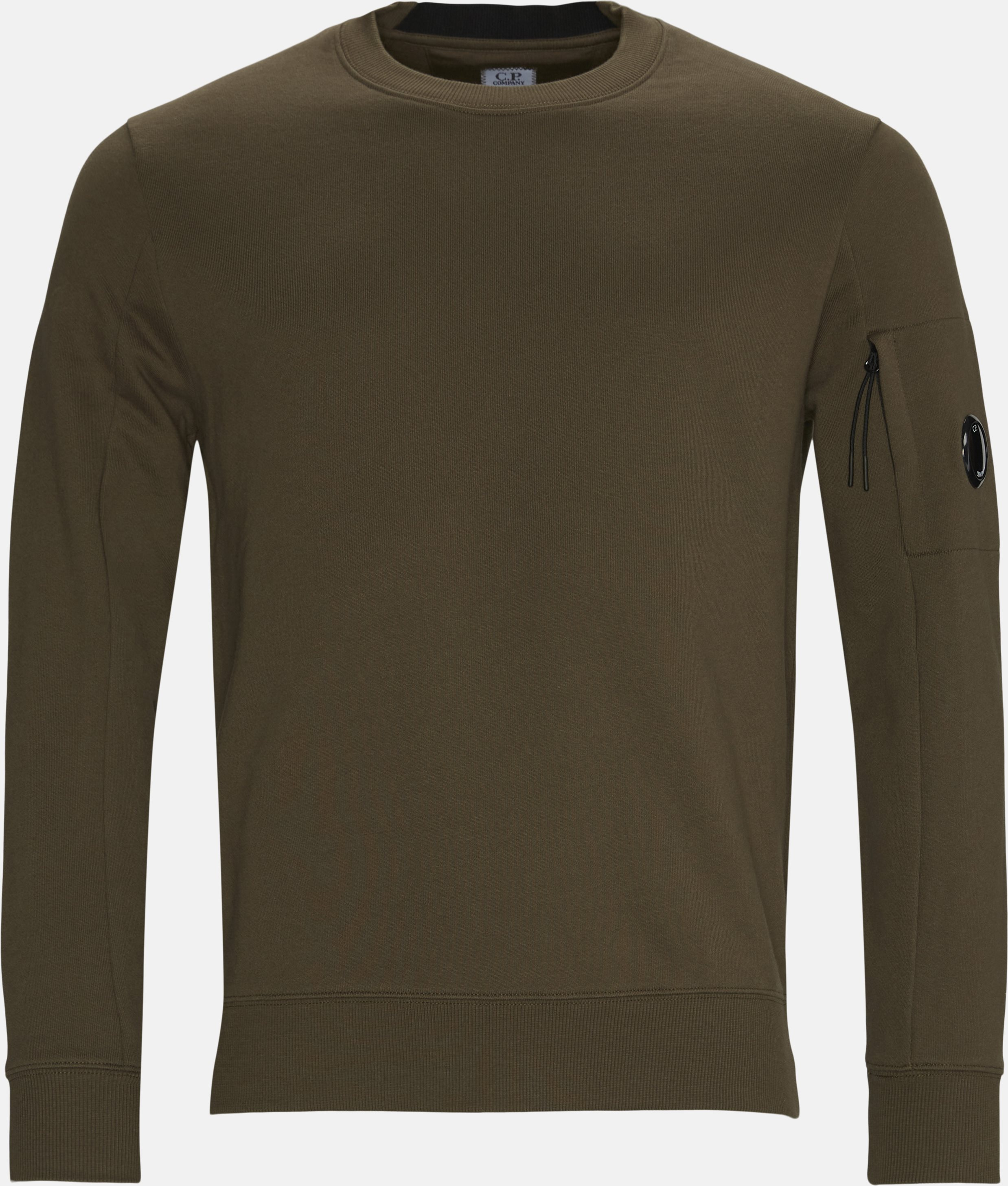 Garment Dyed Light Fleece Lens Crew Sweat - Sweatshirts - Regular - Army