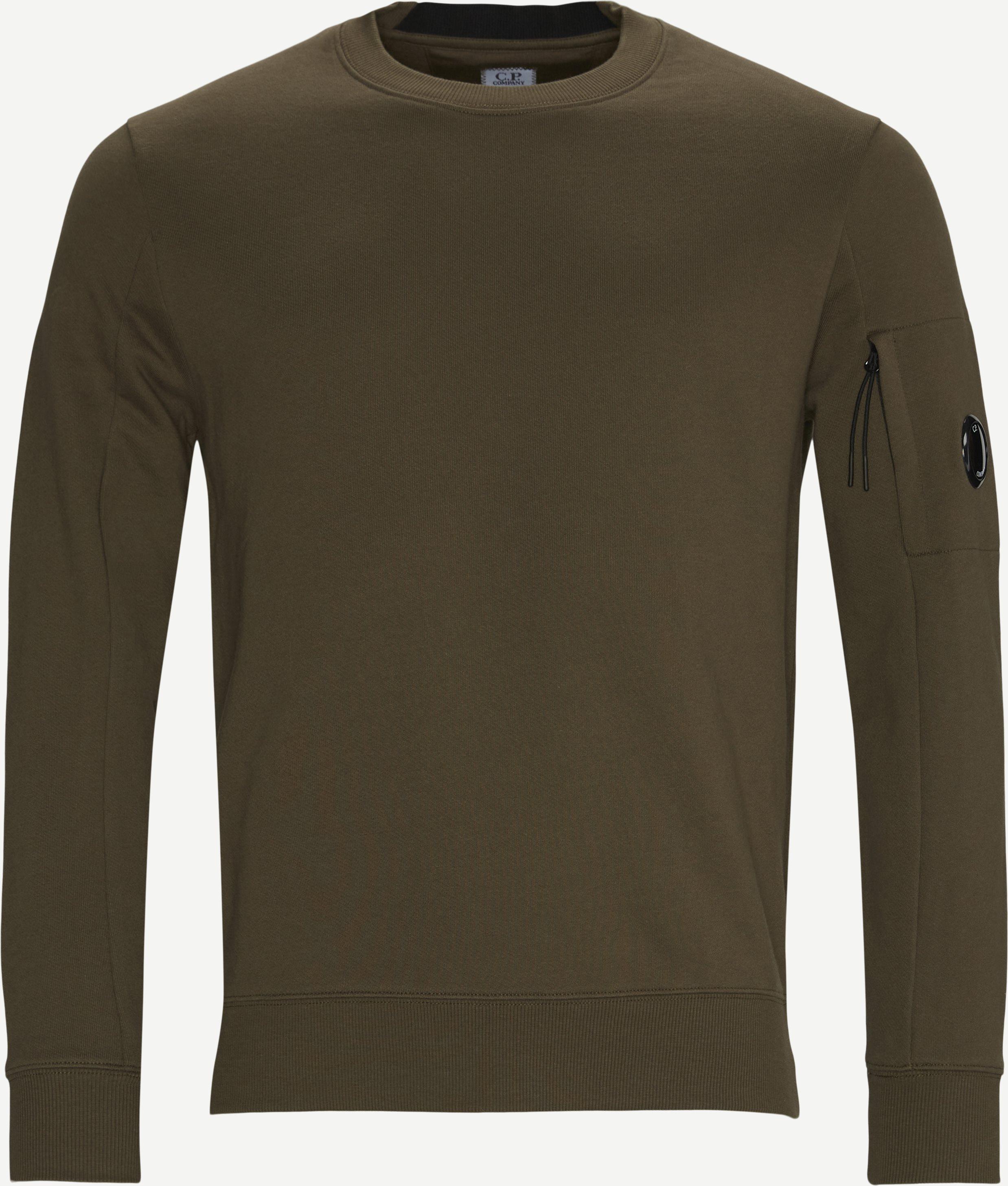 Garment Dyed Light Fleece Lens Crew Sweat - Sweatshirts - Regular - Army