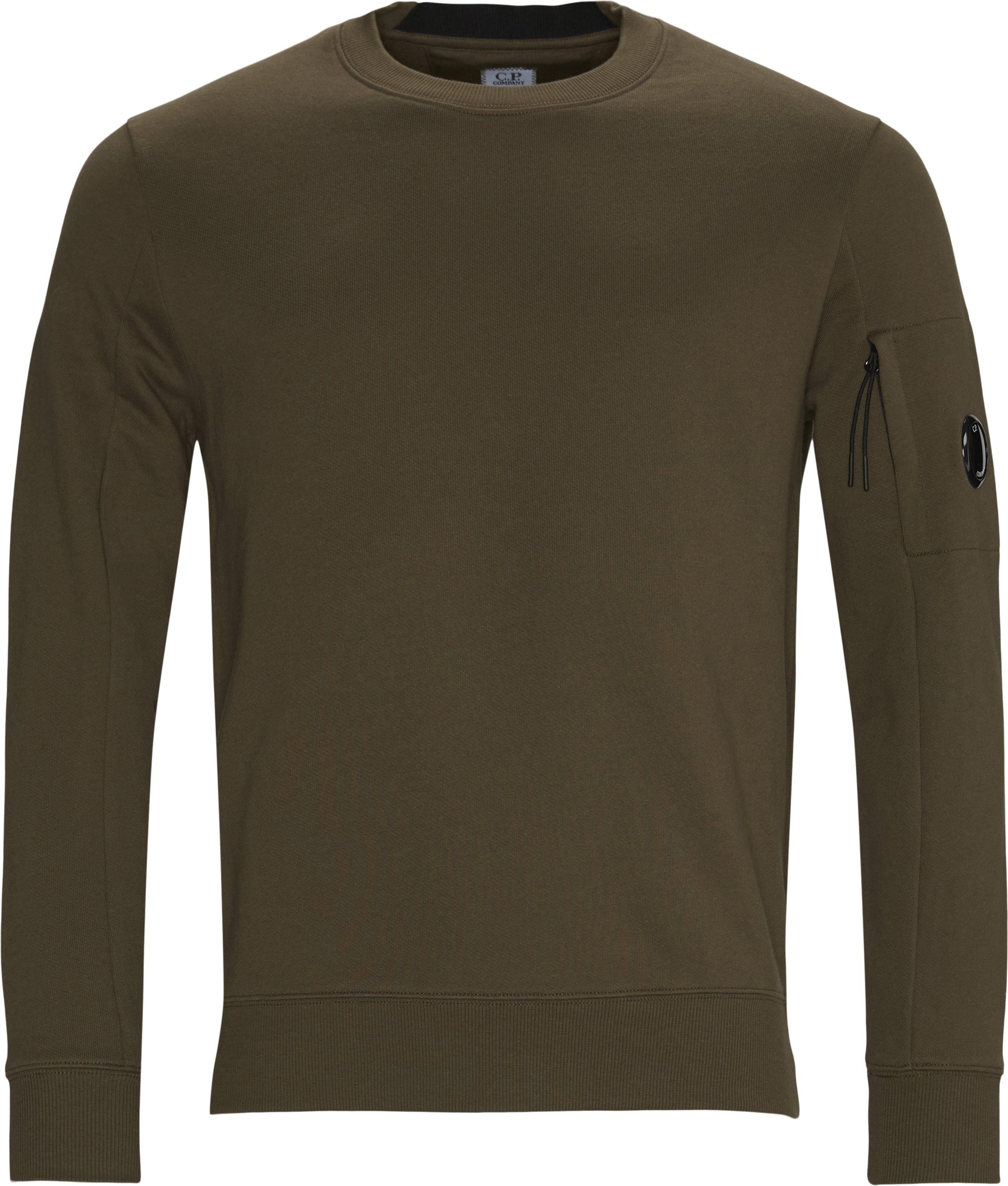 Garment Dyed Light Fleece Lens Crew Sweat - Sweatshirts - Regular fit - Army