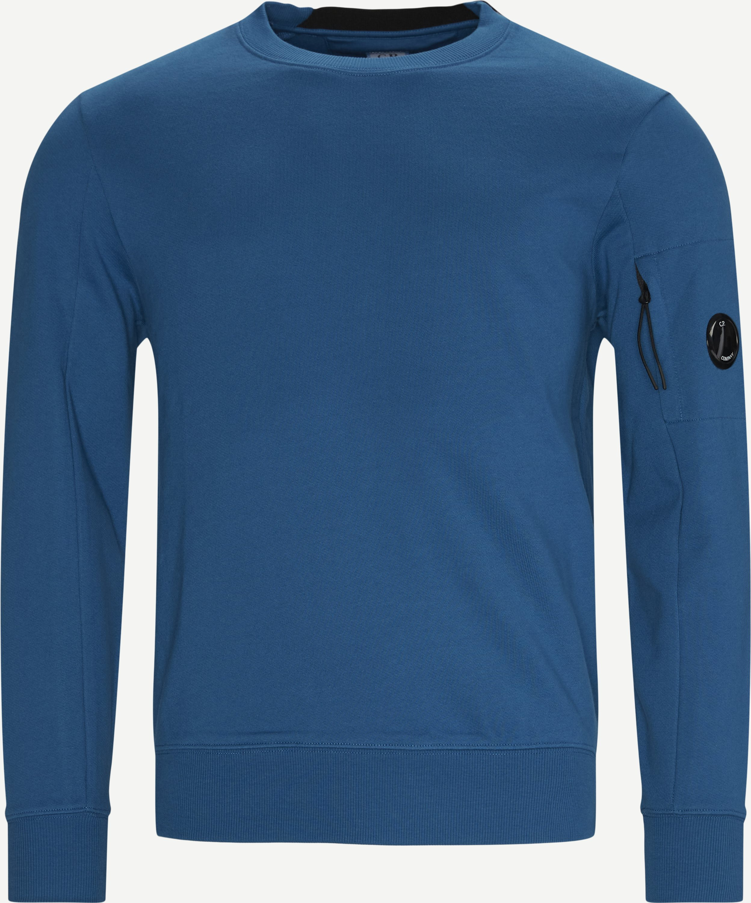 Garment Dyed Light Fleece Lens Crew Sweat - Sweatshirts - Regular - Blue