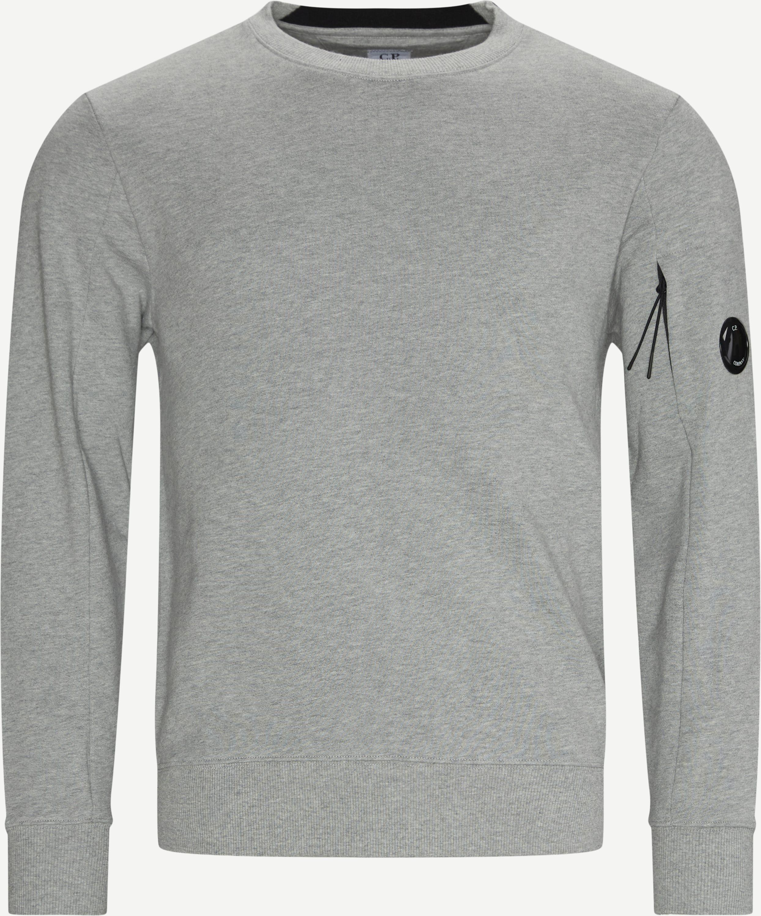 Garment Dyed Light Fleece Lens Crew Sweat - Sweatshirts - Regular - Grey
