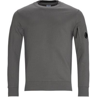 Garment Dyed Light Fleece Lens Crew Sweat Regular fit | Garment Dyed Light Fleece Lens Crew Sweat | Grey