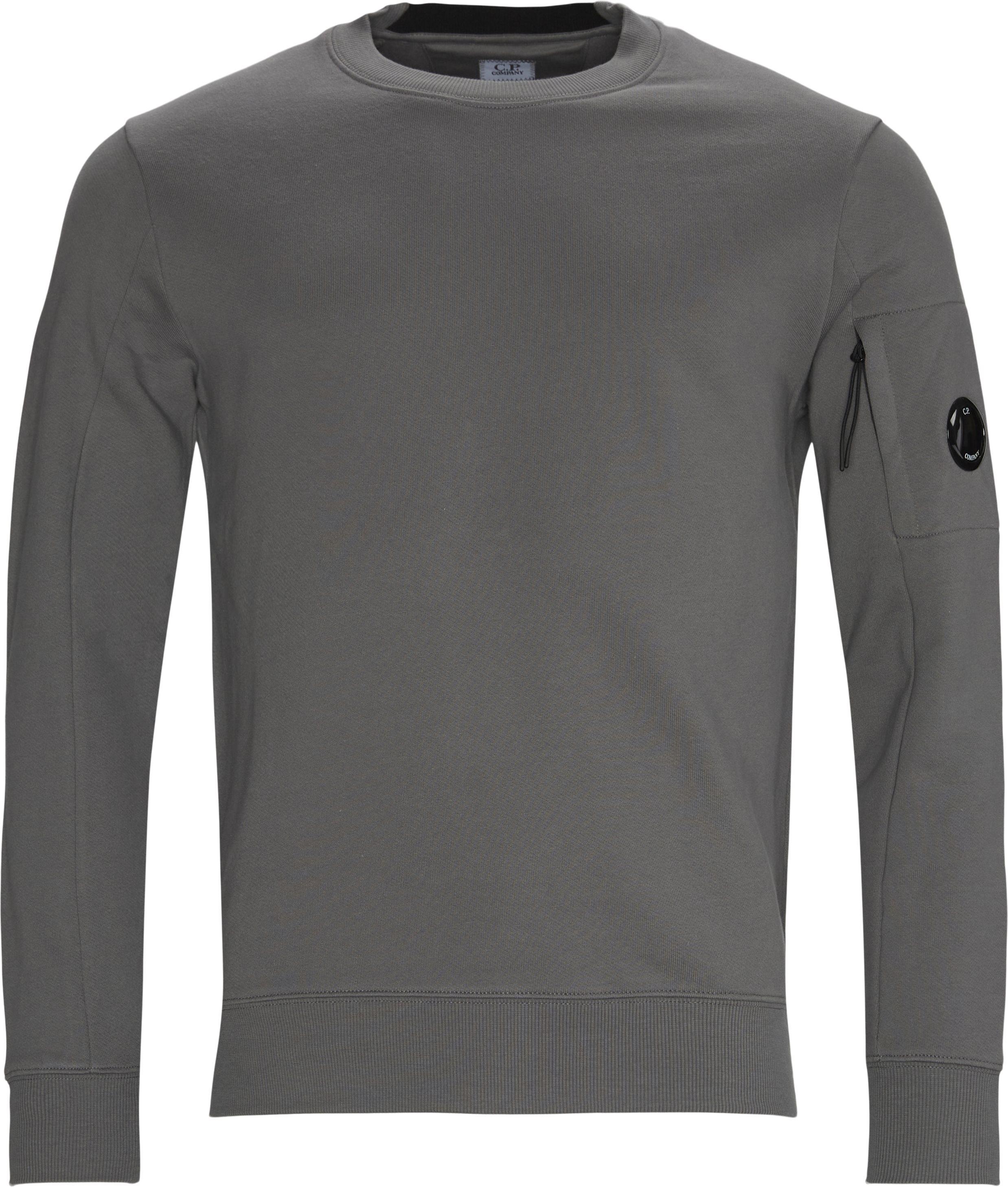 Garment Dyed Light Fleece Lens Crew Sweat - Sweatshirts - Regular fit - Grey