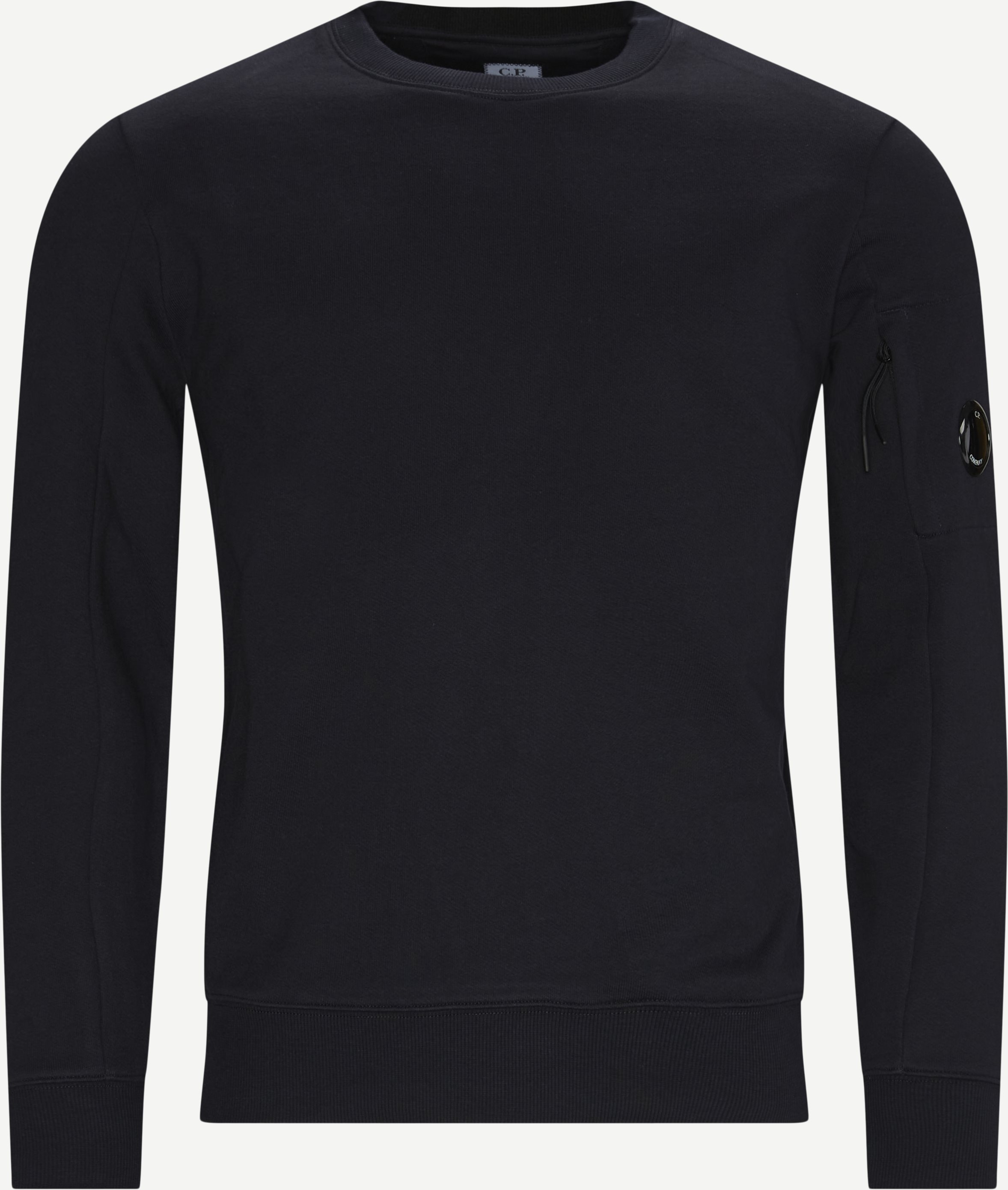 Garment Dyed Light Fleece Lens Crew Sweat - Sweatshirts - Regular - Blå