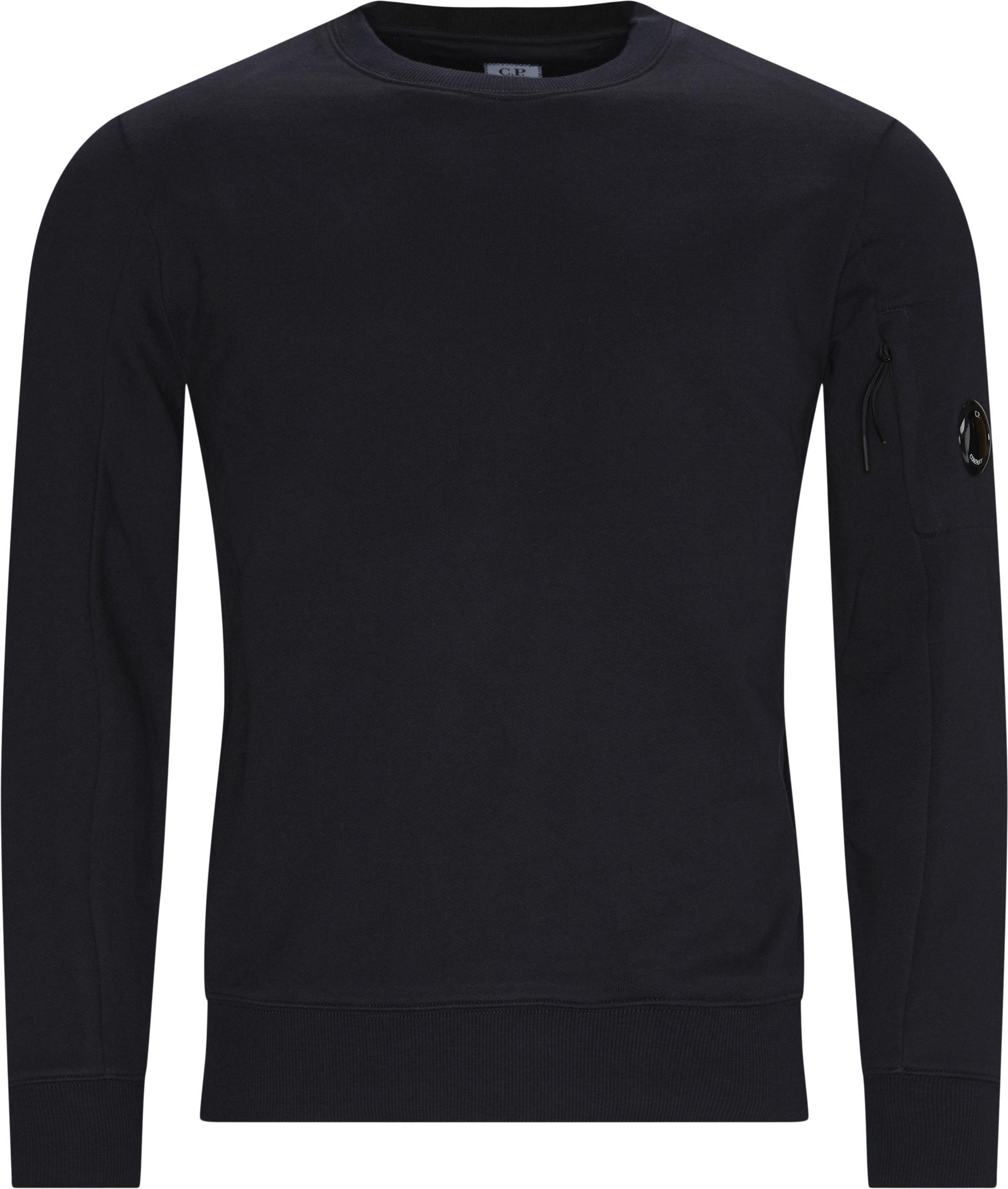 Garment Dyed Light Fleece Lens Crew Sweat - Sweatshirts - Regular fit - Blue