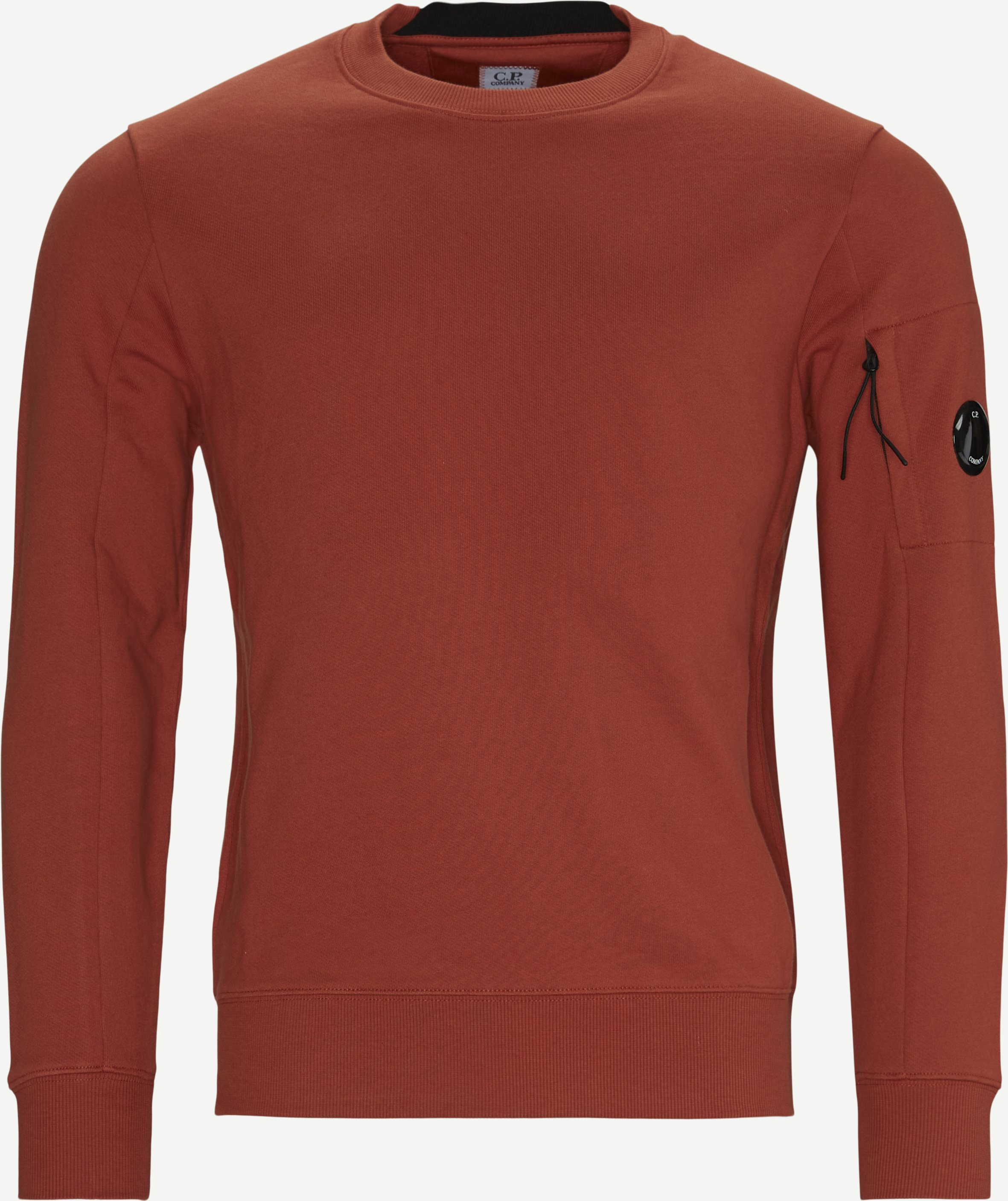 Garment Dyed Light Fleece Lens Crew Sweat - Sweatshirts - Regular - Orange