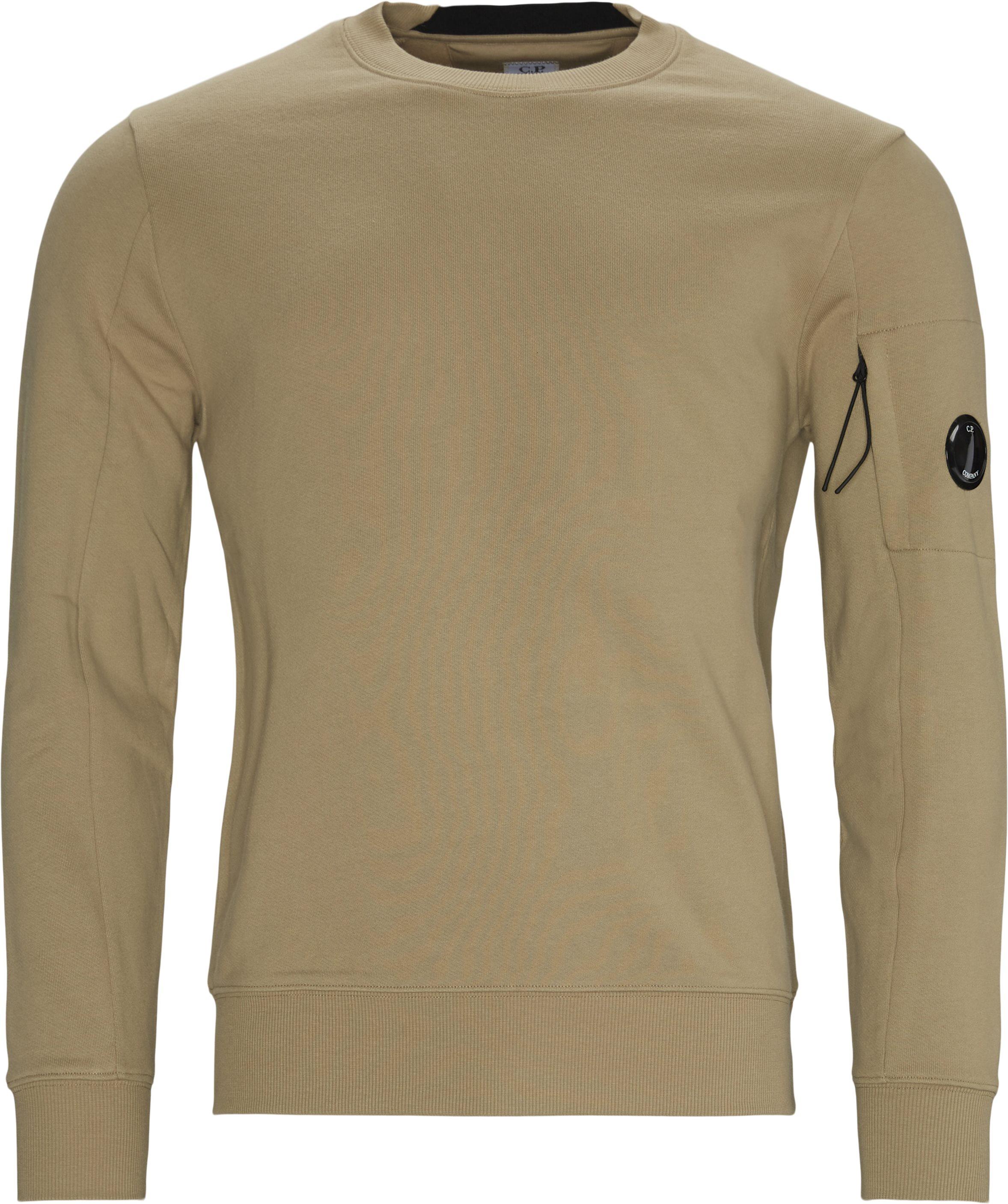 Garment Dyed Light Fleece Lens Crew Sweat - Sweatshirts - Regular fit - Sand