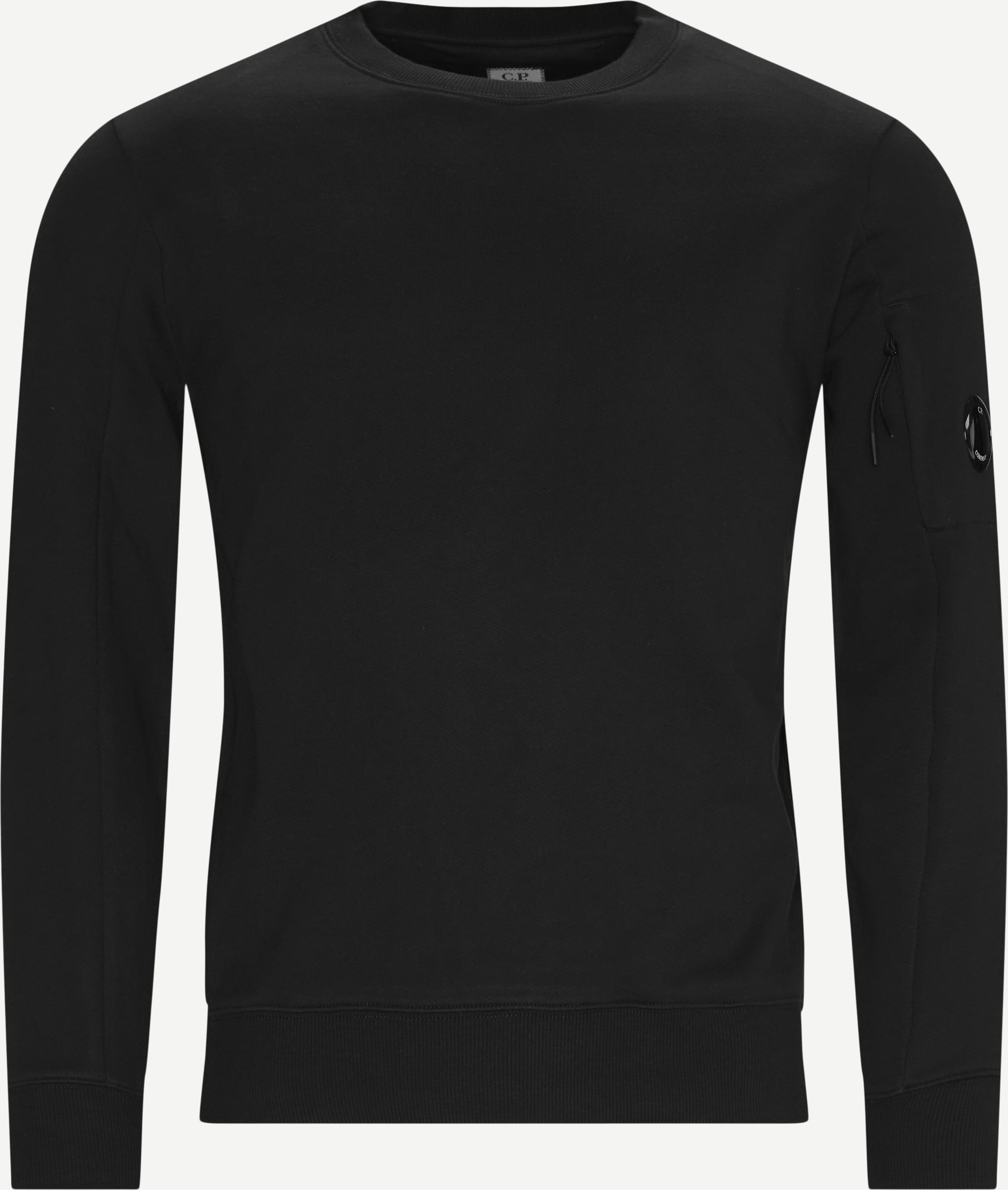 Garment Dyed Light Fleece Lens Crew Sweat - Sweatshirts - Regular - Svart