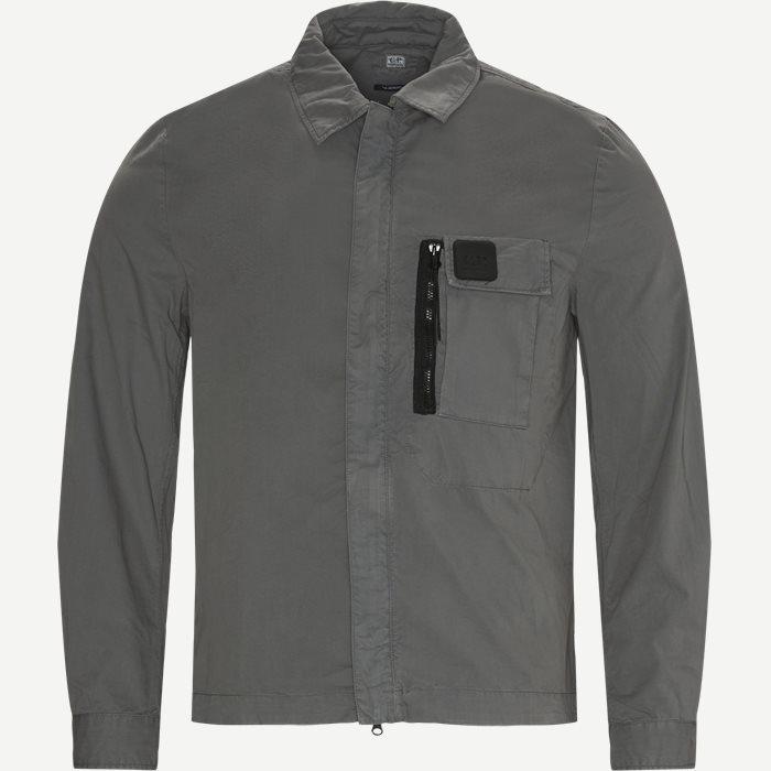 Garbardine Logo Shirt - Skjortor - Regular - Grå