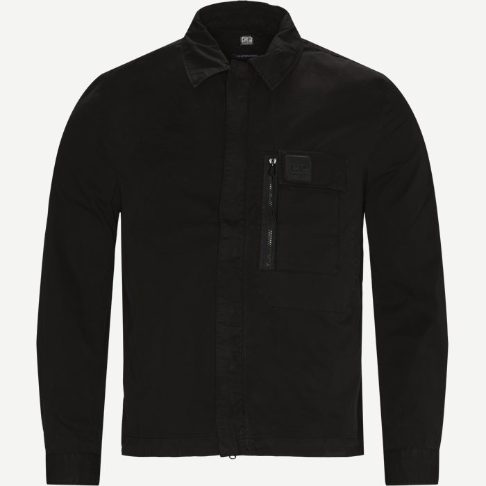 Garbardine Logo Shirt - Skjortor - Regular - Svart