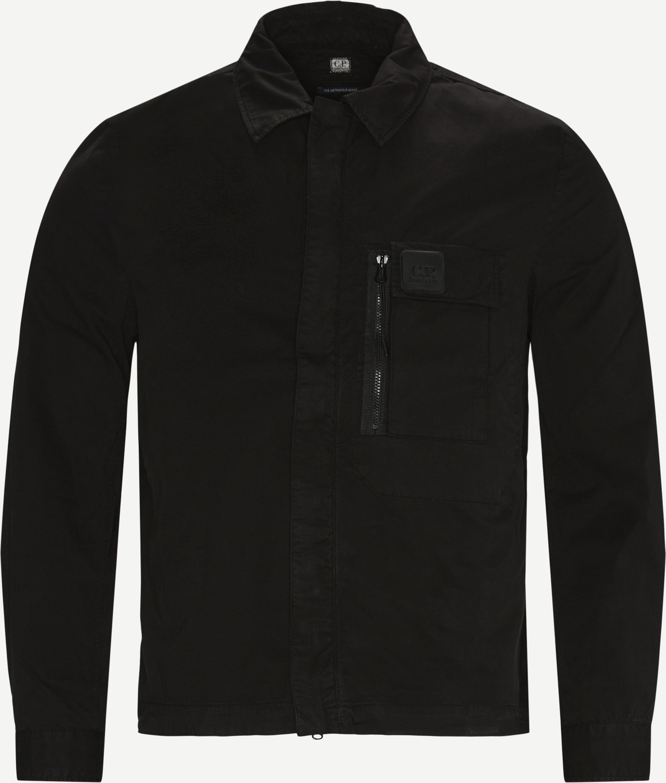 Garbardine Logo Shirt - Skjortor - Regular fit - Svart