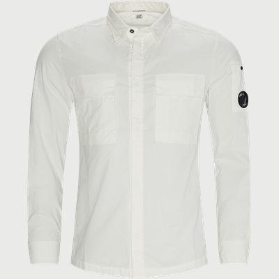 Emerized Gabardine Garment Dyed Shirt Regular fit | Emerized Gabardine Garment Dyed Shirt | Hvid