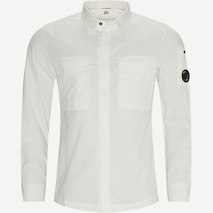 Emerized Gabardine Garment Dyed Shirt - Skjortor - Regular - Vit