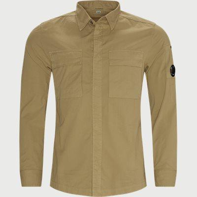Emerized Gabardine Garment Dyed Shirt Regular fit | Emerized Gabardine Garment Dyed Shirt | Sand
