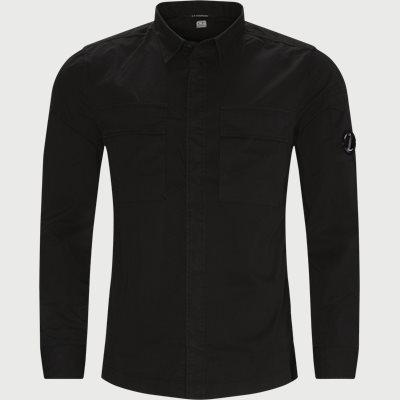 Emerized Gabardine Garment Dyed Shirt Regular | Emerized Gabardine Garment Dyed Shirt | Sort