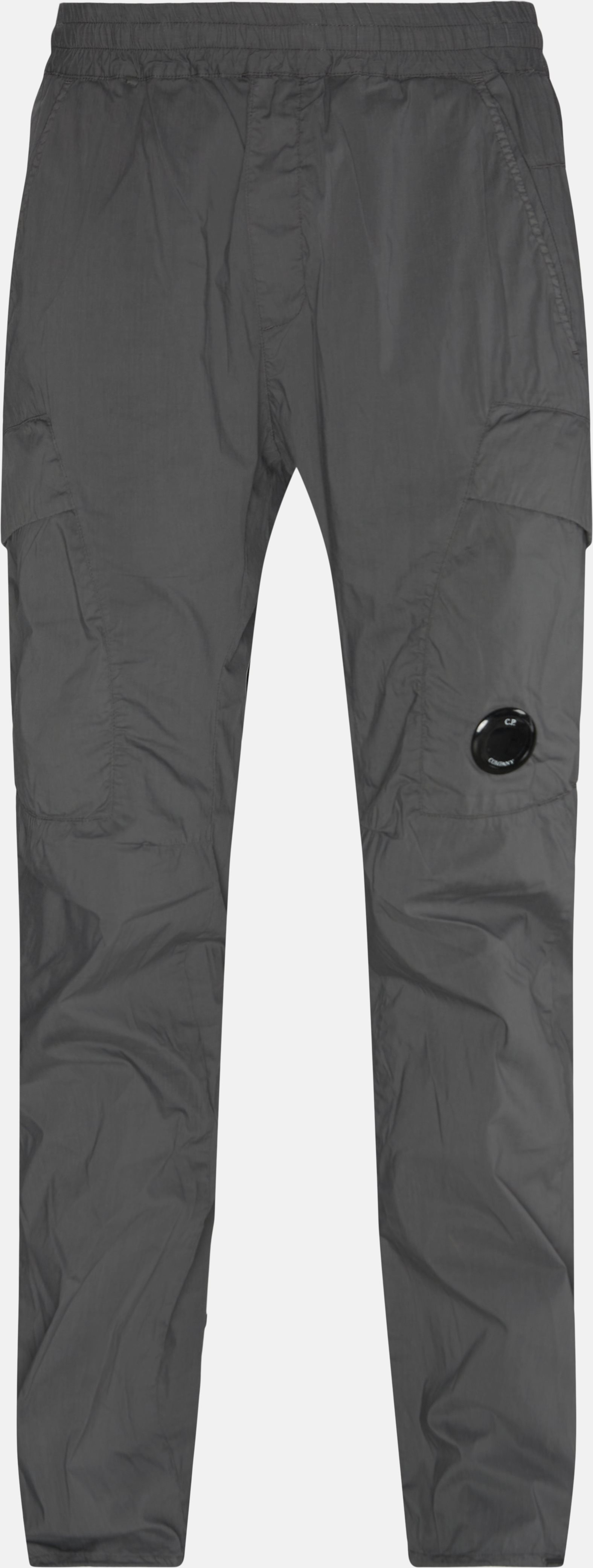 Logo Lens Pants - Bukser - Regular - Grå