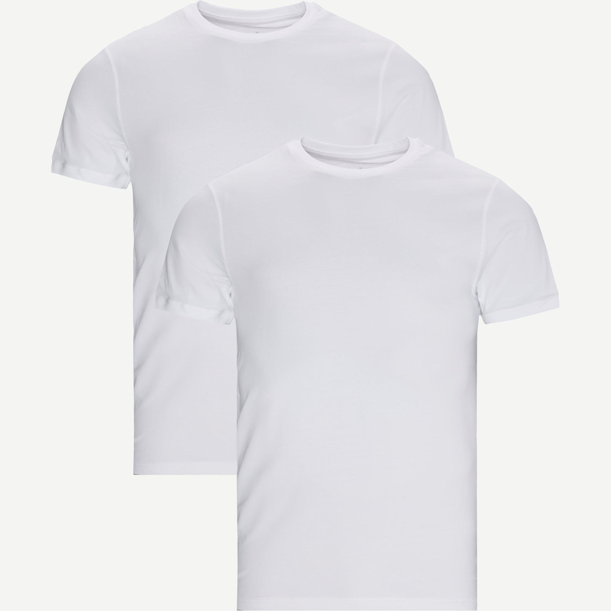 Heimdal Organic 2-Pack T-shirt - T-shirts - Hvid