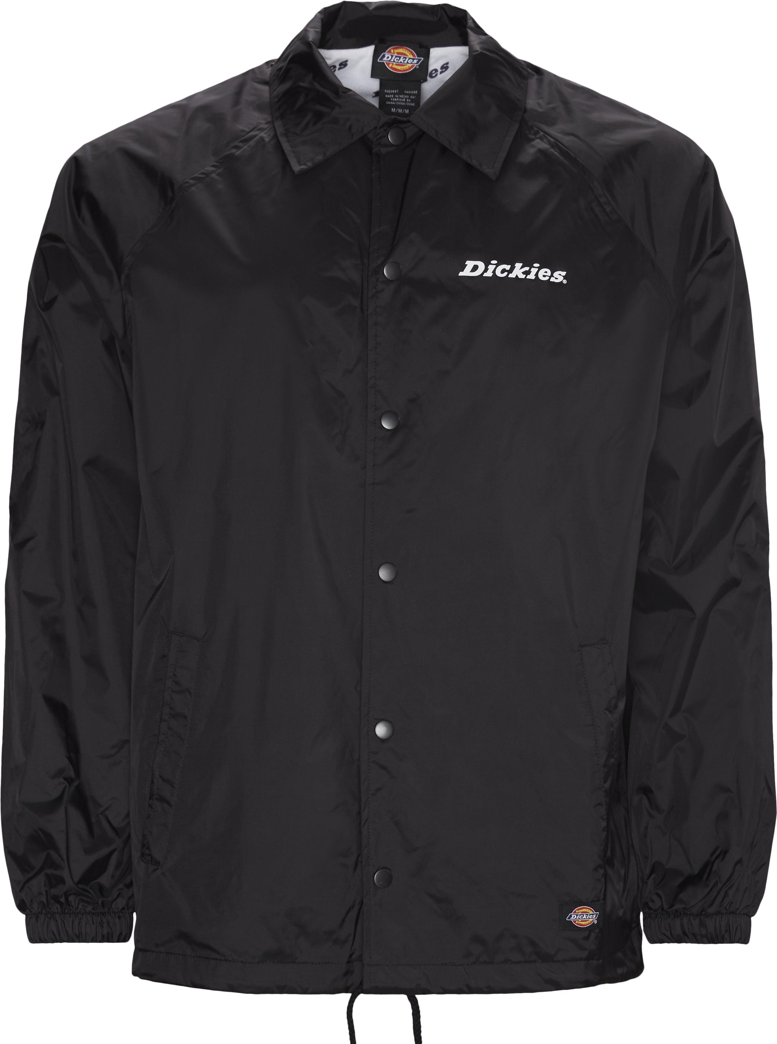 Nylon Coach Jacket - Jackets - Regular - Black