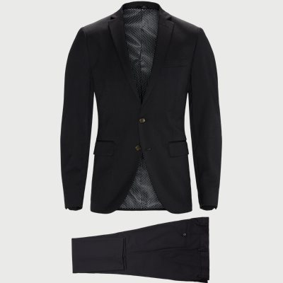 Slim fit | Kostymer | Svart