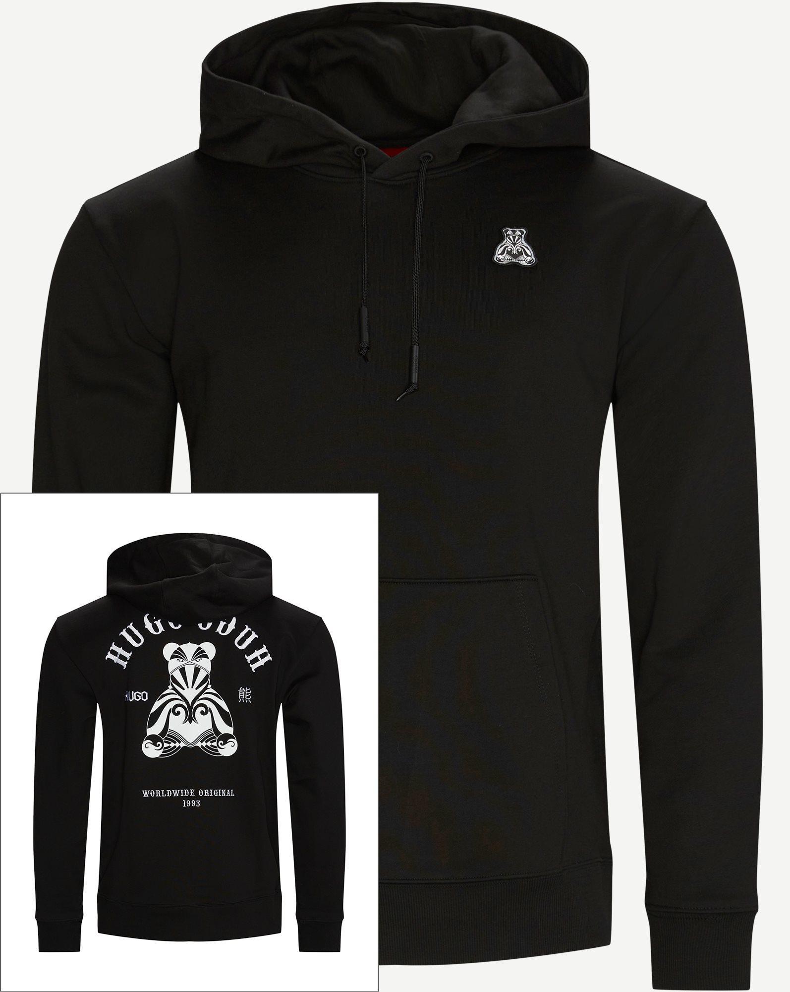 Disho Hooded Sweatshirt - Sweatshirts - Regular - Svart